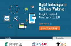 Digital Technologies for Resilience Workshop