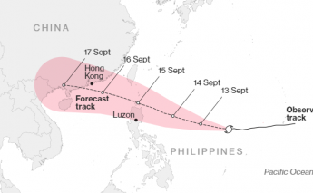 Typhoon Mangkhut makes it way towards Southeast Asia